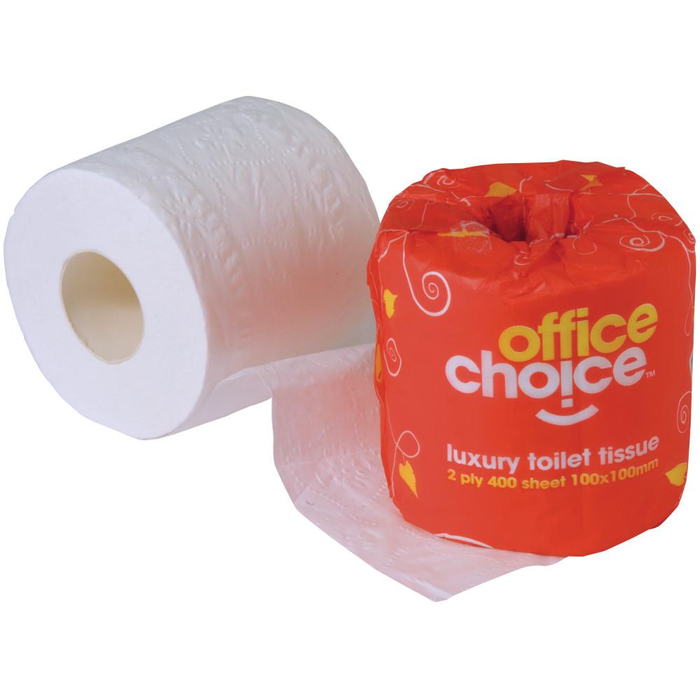 TOILET ROLLS 2Ply 400Sht CTN48 OFFICE CHOICE