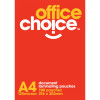 LAMINATING POUCH A4 125m BX100 OFFICE CHOICE