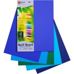 QUILL A4 BOARD 200G PK50 ASS COLD PK50