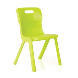 TITAN EDUCATION 4 LEG CHAIR 380mm High Lime