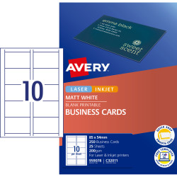 BUSINESS CARDS 10/Sht C32011 AVERY