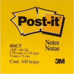 3M POST 76X76 654CT NEON hojas PK12