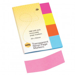 MARBIG NEON PAGE MARKERS 1811405