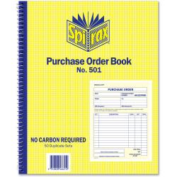 SPIRAX ORDER BOOK QUARTO 501