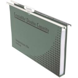 SUSPENSION FILE DOUBLE CAP BOX 50 CRYSTALFILE