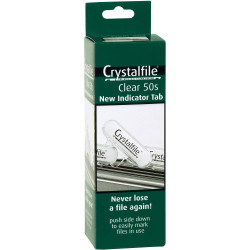 TABS CLEAR CRYSTAL 50PK (NEW STYLE)