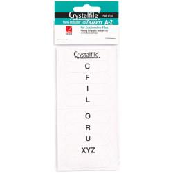 CRYSTALFILE INDICATOR TAB INSERTS (NEW STYLE) A-Z White 25PK