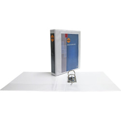 LEVER ARCH FILE A4 WHITE INSERT CLEARVIEW