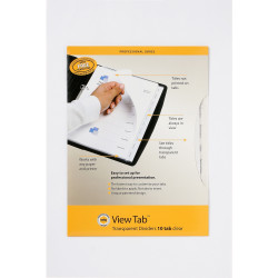 MARBIG VIEW TAB DIVIDERS A4 PP 10 Tab Clear Set of 10