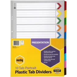 a3 10 tab dividers 38610 A3