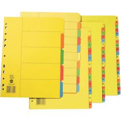 MARBIG BRIGHT MANILLA DIVIDERS A4 1-20 Multi-Coloured Includes 20 Tabs