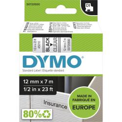 DYMO TAPE 12MM X 7M 345010 BK/CLEAR