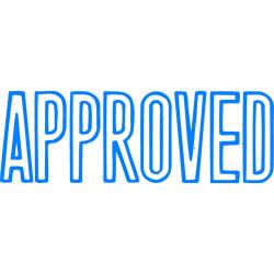 XSTAMPER APPROVED BLUE 1008