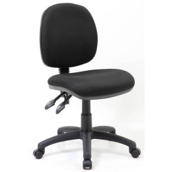 CHAIR TASK BLACK NO ARMS CRESCENT