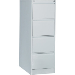 FILING CABINET 4 DRAWER SILVER GREY GO H1321xw460xd620mm