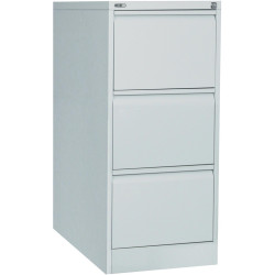 FILING CABINET 3 DRAWER SILVER GREY GO H1016xw460xd620mm