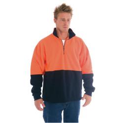 ZIONS HIVIS SAFETY WEAR Two Tone 1/2 Zip Polar Fleece