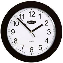 CARVEN WALL CLOCK 250mm Black Frame