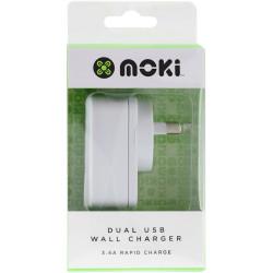 Moki Dual USB Wall Charger White